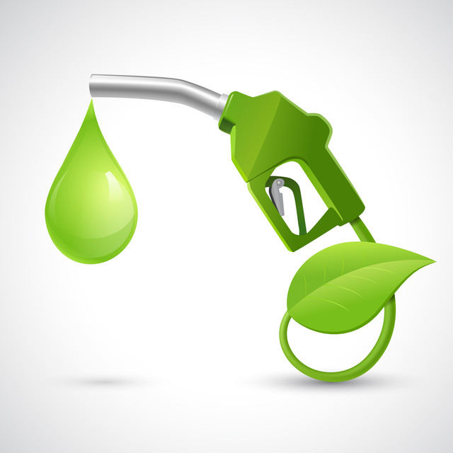 Green-bio-fuel-concept-with-fueling-nozzle-leaf-and-drop-natural-energy-concept-vector-illustration