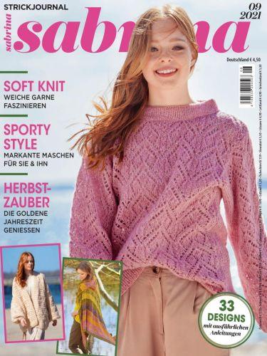 Cover: Sabrina Strickjournal Magazin September No 09 2021