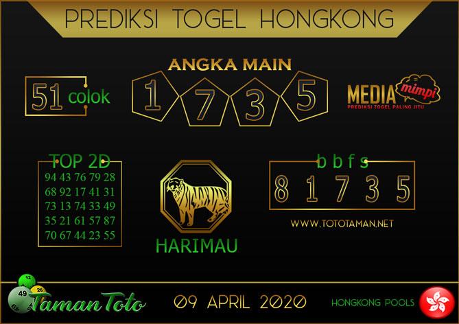 Prediksi Togel HONGKONG TAMAN TOTO 09 APRIL 2020