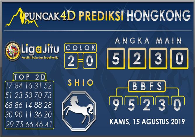 PREDIKSI TOGEL HONGKONG PUNCAK4D 15 AGUSTUS 2019