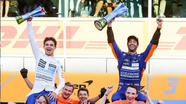 F1 GP d'Italie 2021 : vainqueur Daniel Ricciardo (McLaren) Lando-Norris