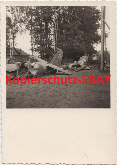 org-Foto-Wehrmacht-Russland-zerst-rtes-russ-Flugzeug-Typ