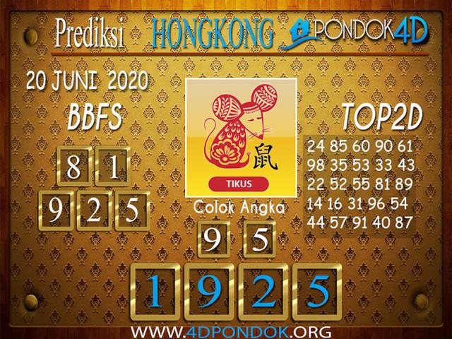 Prediksi Togel HONGKONG PONDOK4D 20 JUNI 2020