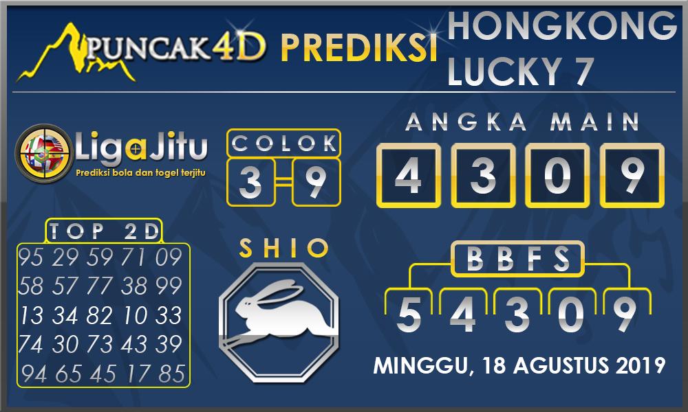 PREDIKSI TOGEL HONGKONG LUCKY7 PUNCAK4D 18 AGUSTUS 2019
