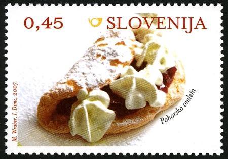 Slovenia stamps GASTRONOMY-Z-LICO-PO-SLOVENIJI-OMLET
