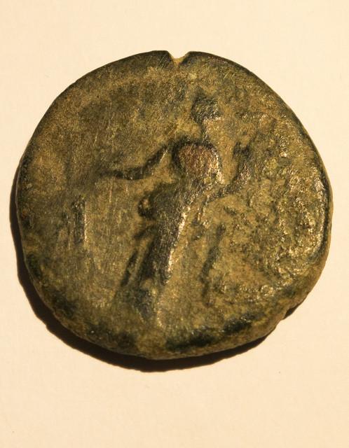 As de Marco Aurelio. IMP VII(I) COS III PAX AETERNA AVG – S C. Pax estante a izq. Roma. Roma-8-1-de-1