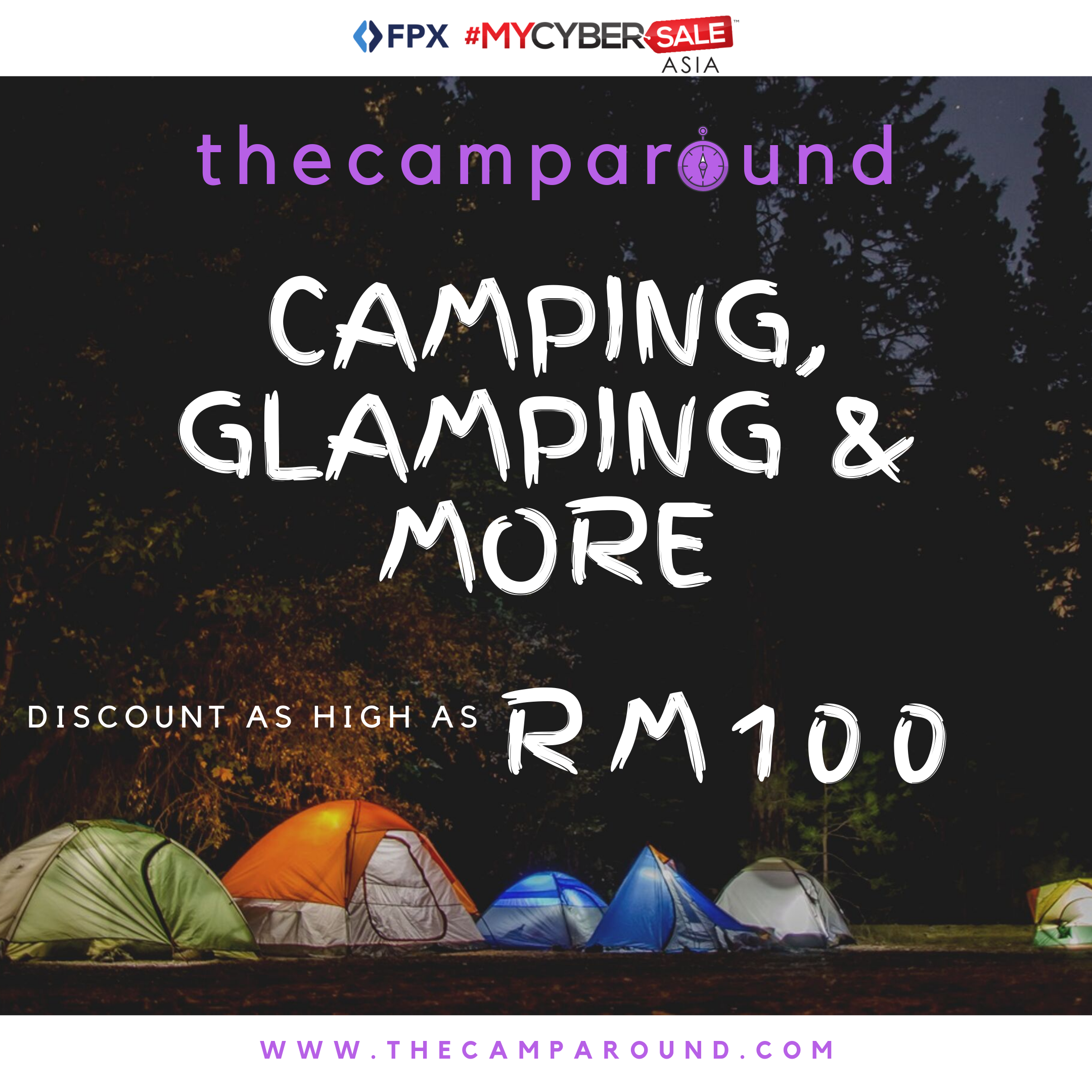 thecamparound mycybersale asia 2019 camping glamping