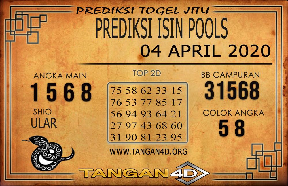 PREDIKSI TOGEL ISIN TANGAN4D 04 APRIL 2020