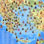 Αγιολογικός Χάρτης Ελλάδας - Μικράς Ασίας
