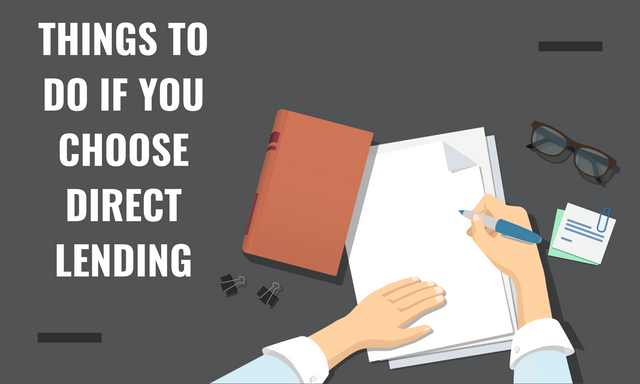 Things-To-Do-If-You-Choose-Direct-Lending