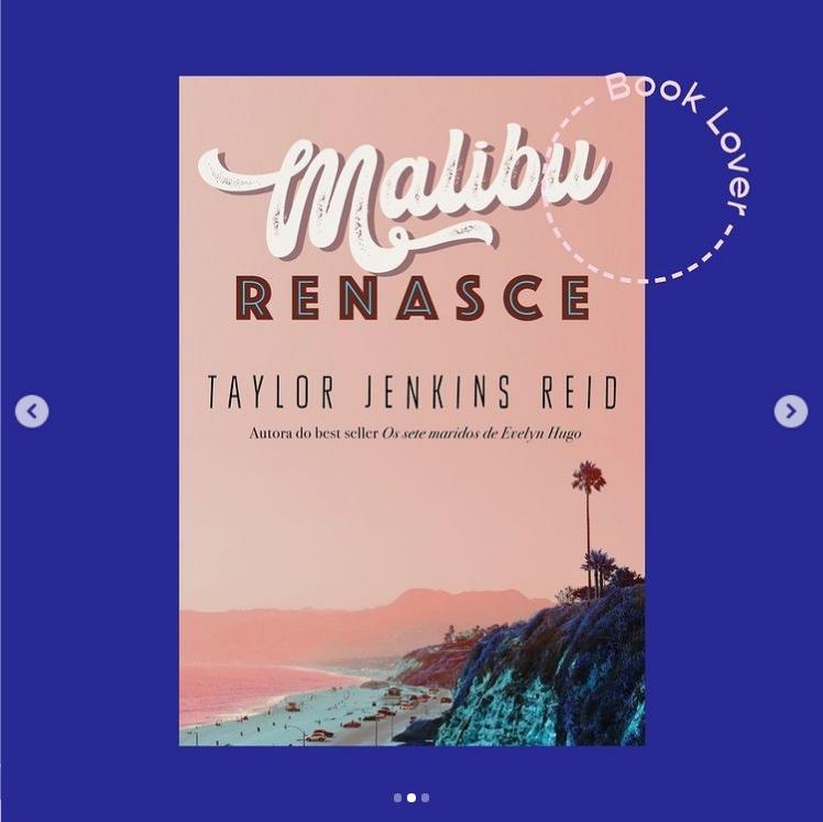"""Editora Paralela revelou a capa de """"Malibu Renasce"""" novo livro da Taylor Jenkins Reid"""