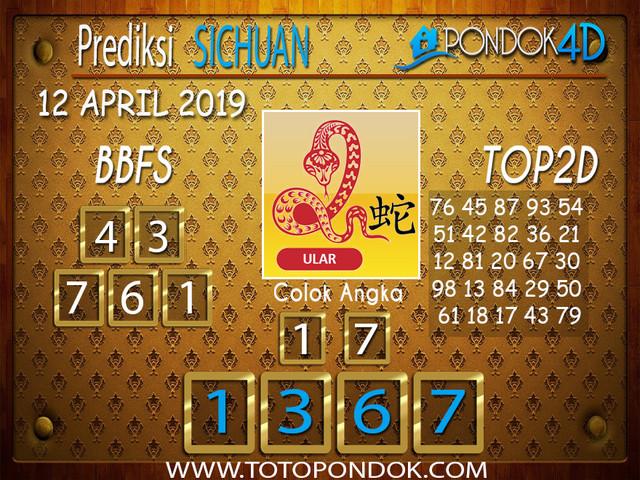 Prediksi Togel SICHUAN PONDOK4D 12 APRIL 2019