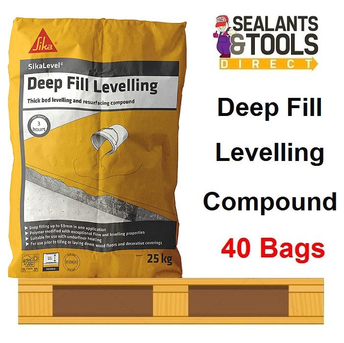 Sika Sikalevel Deep Fill Concrete Floor Level 25kg 40 Bag Pallet
