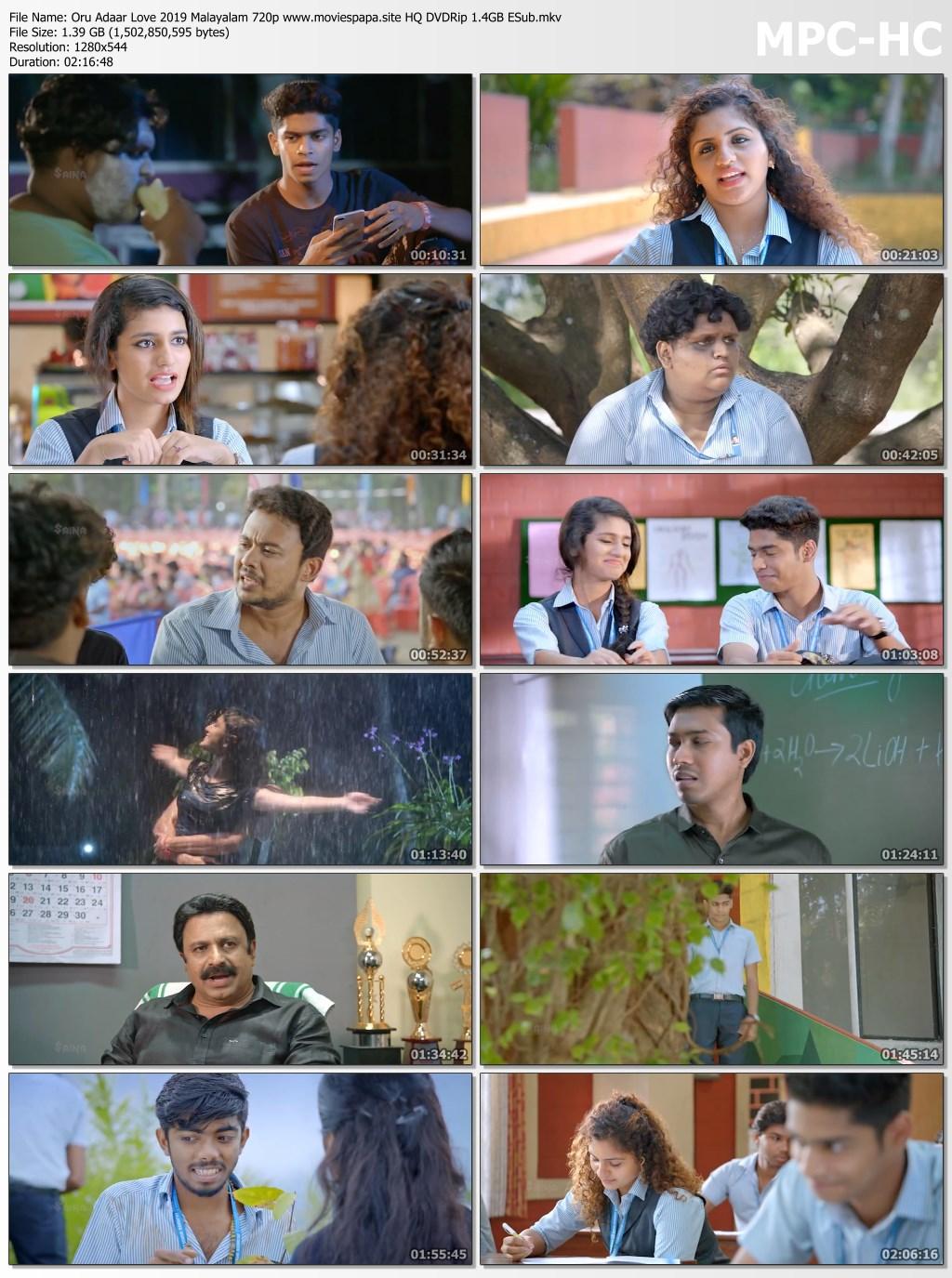 Oru Adaar Love 2019 Malayalam 720P Hq Dvdrip 14Gb Esub -7815