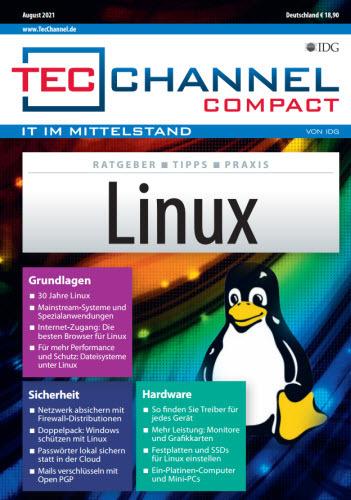 Cover: Tecchannel Compact Magazin (Linux) No 08 2021