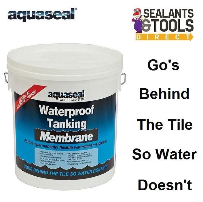 Aquaseal Wet Room Waterproof Tanking Membrane 5 Litre AQWRSMEM5