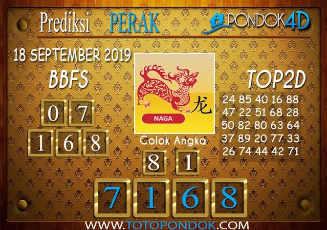 Prediksi Togel PERAK POOLS PONDOK4D 18 SEPTEMBER 2019
