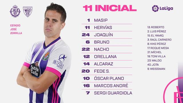 Real Valladolid C.F. - Athletic Club de Bilbao. Domingo 8 de Noviembre. 18:30 Alineaci-n