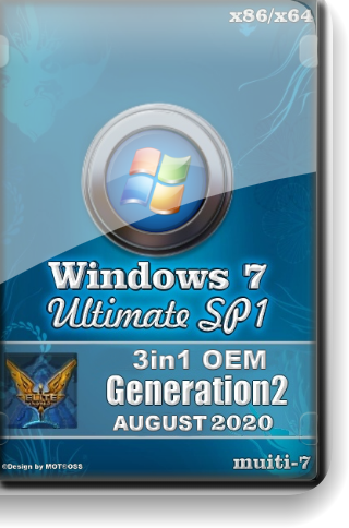 Windows 7 Ultimate SP1 3in1 OEM by Generation2 (x64) (Multi-7) [16/08/2020]