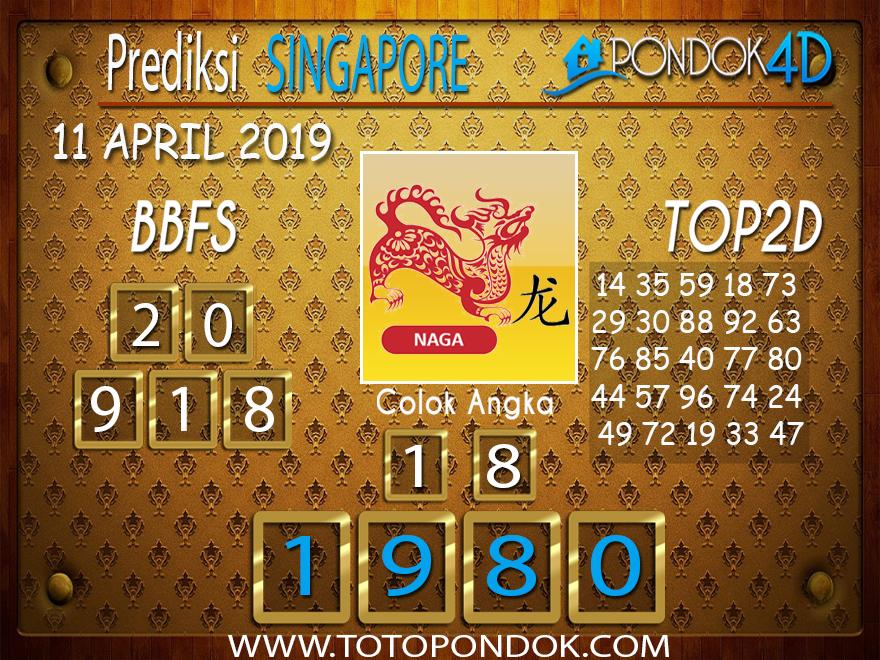 Prediksi Togel SINGAPORE PONDOK4D 11 APRIL 2019