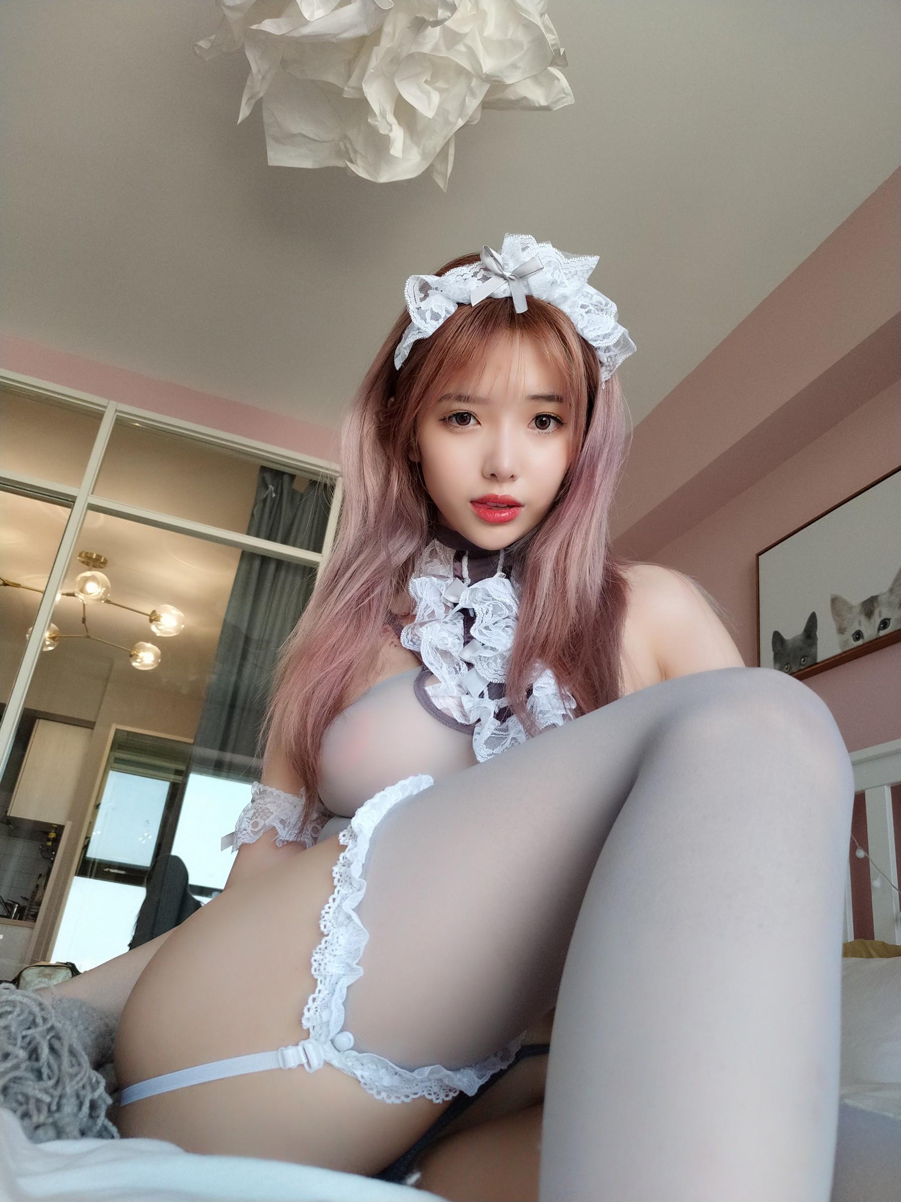 [cosplay] Wenmei - Gray maid selfie 019