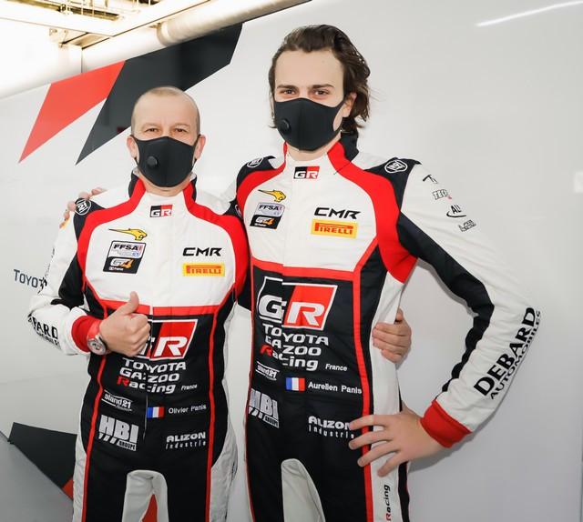 Finale du Championnat de France FFSA GT : Olivier et Aurélien Panis au volant de la Toyota GR Supra GT4 Olivieretaureacutelienpanis