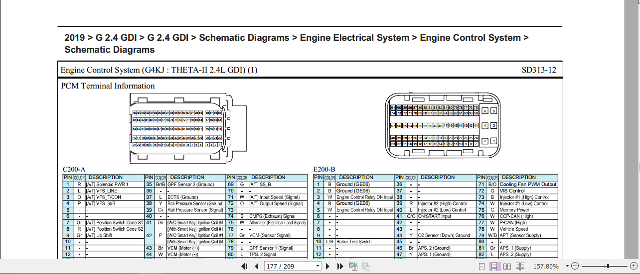 Wiring Diagram Hyundai Santa Fe 2019 G2 4 Gdi Tm Mhh Auto Page 1