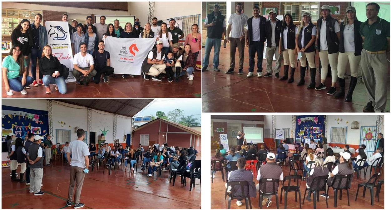 La Municipalidad de Villaguay junto a la Escuela Urquiza, dictaron una capacitación sobre equinoterapia en Misiones