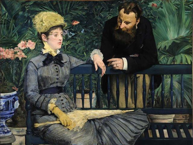 Pintura-de-Manet-in-el-conservatorio
