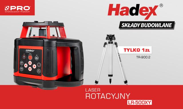 Laser rotacyjny PRO Hadex