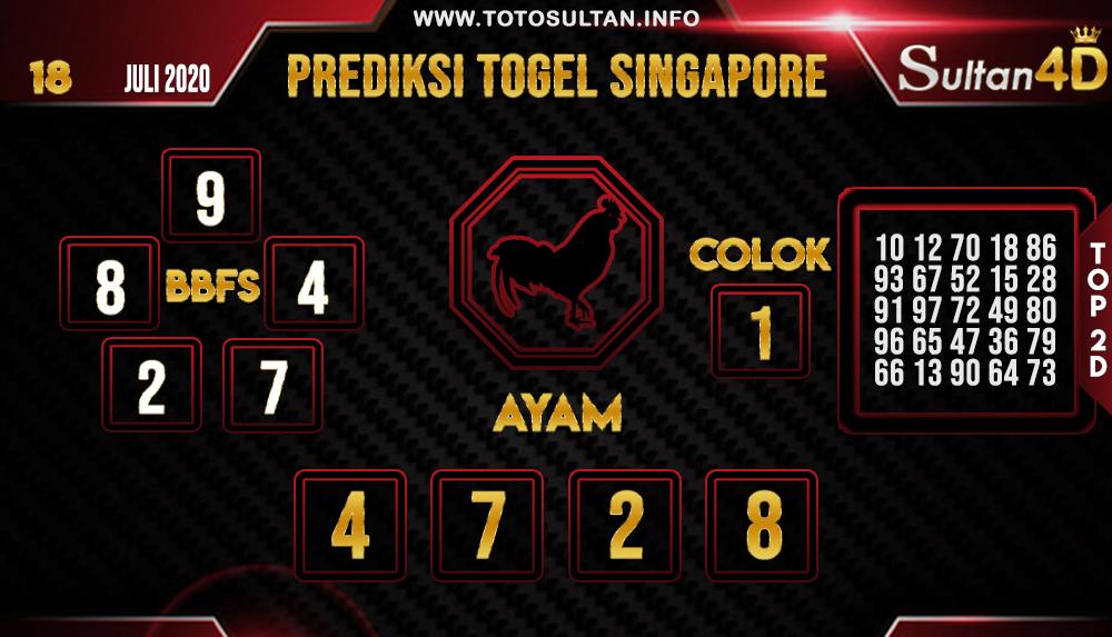 PREDIKSI TOGEL SINGAPORE SULTAN4D 18 JULI 2020
