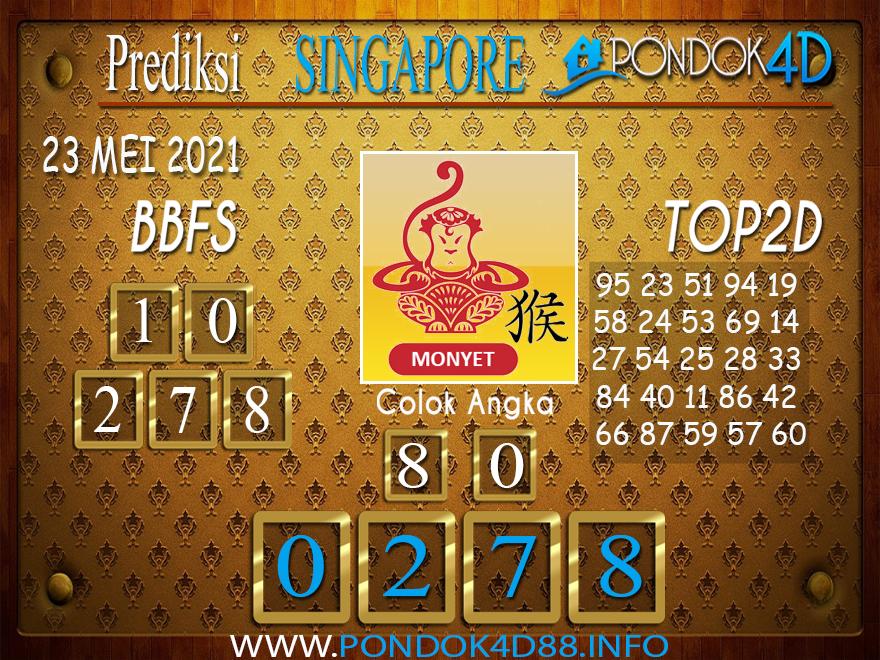 Prediksi Togel SINGAPORE PONDOK4D 23 MEI 2021