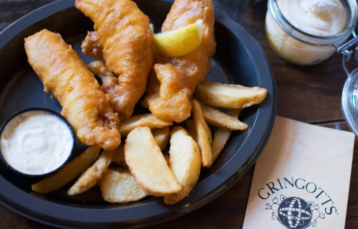 Fish and chips at The Wizarding World of Harry Potter