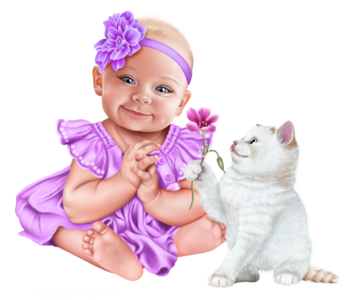 baby-with-a-kitten-png12.png
