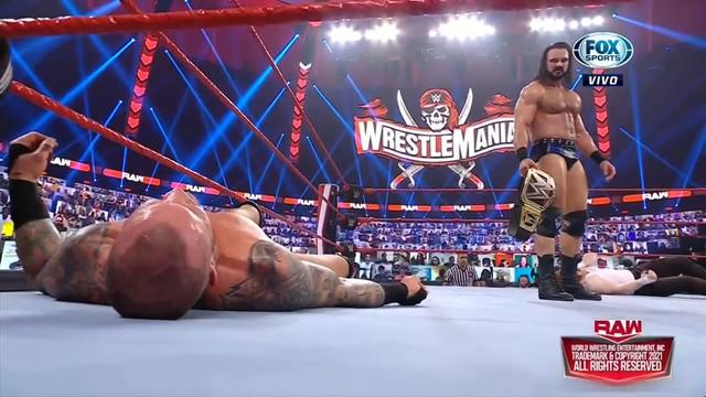 Randy Orton descalificación Drew McIntyre y Sheamus RAW 8 Febrero
