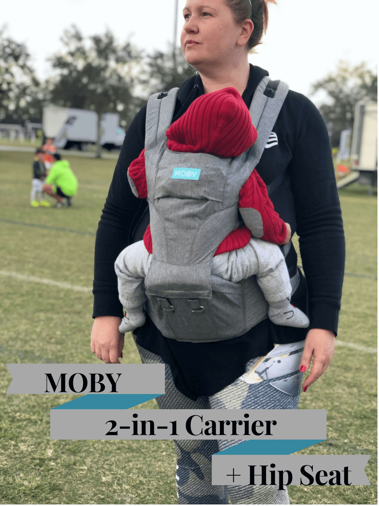 MOBY 2-in-1 Carrier + Hip Seat 1