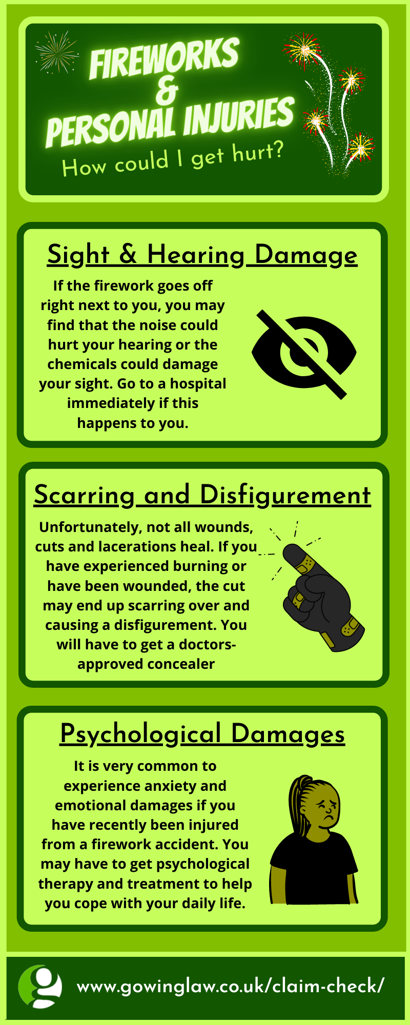 firework safety personal injury infographic