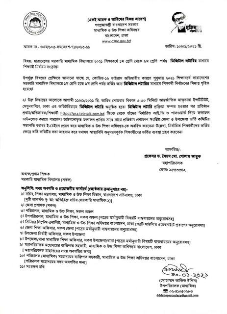 govt-high-school-admission-result