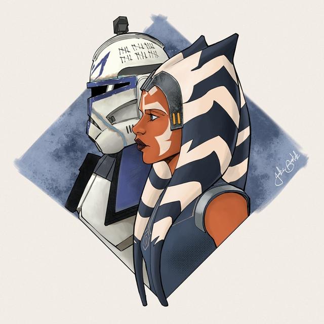 Rex-and-Ahsoka-an-art-print-by-Jake-Bartok