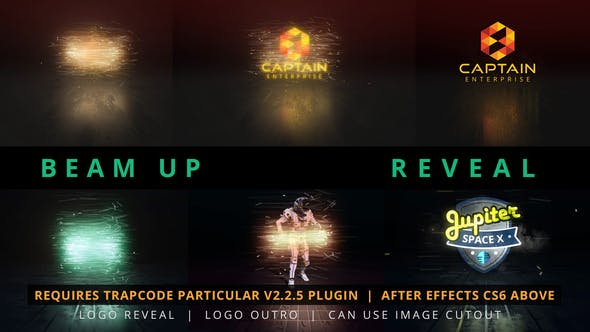 Videohive - Beam Up Particle Logo Reveal - 24493766