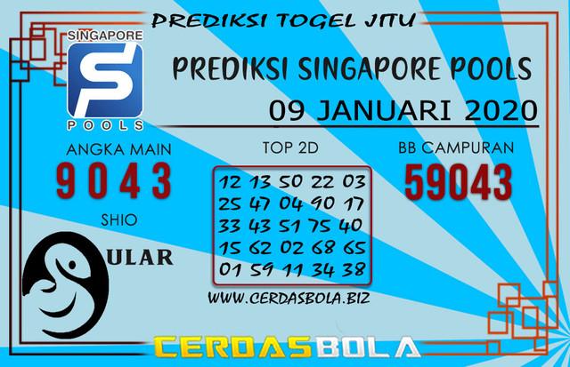 Prediksi Togel SINGAPORE CERDASBOLA 09 JANUARI 2020