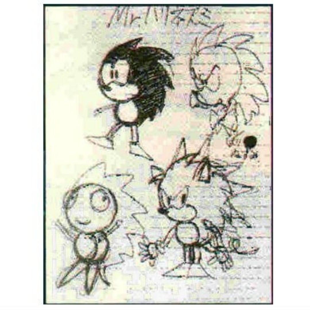 Primeros bocetos de Sonic.