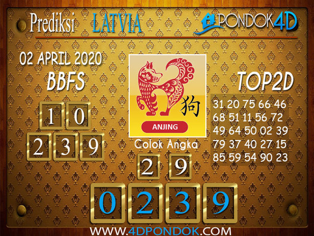 Prediksi Togel LATVIA POOLS PONDOK4D 02 APRIL 2020