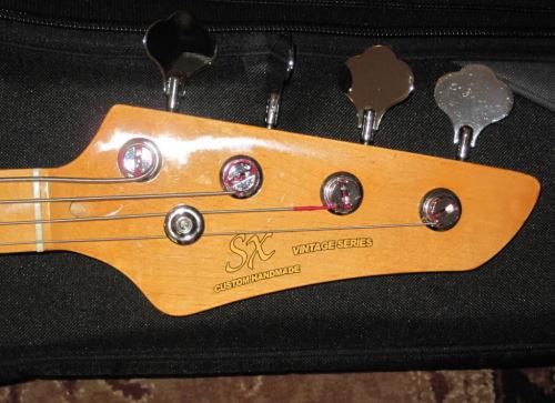 SX com headstock tipo Fender Sx2
