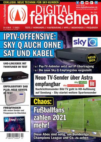 Cover: Digital Fernsehen Magazin No 07 Juli 2021