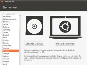 menu instalation Ubuntu