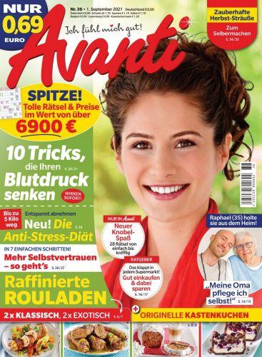 Cover: Avanti Frauenmagazin No 36 vom 01  September 2021