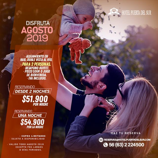 Promoción TODO AGOSTO 2019 Hotel Puerta del Sur